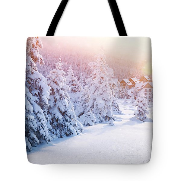 Winter Resort Tote Bag