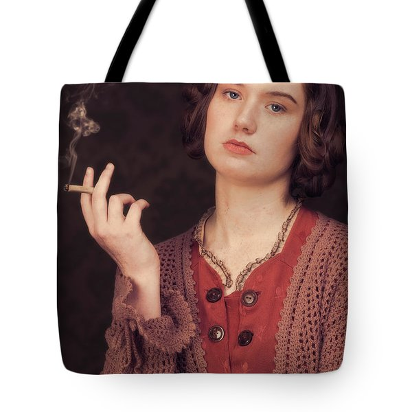 Woman In Period Costume Tote Bag