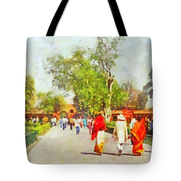 Women In Saris Tote Bag