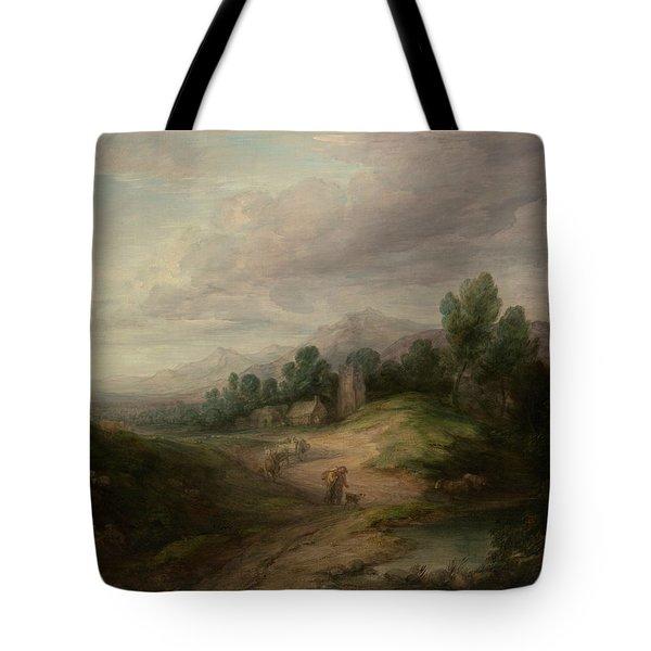 Wooded Upland Landscape Tote Bag