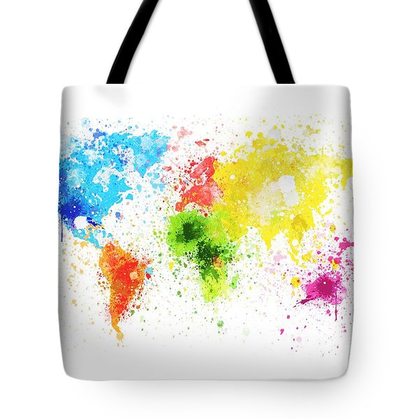 World Map Painting Tote Bag