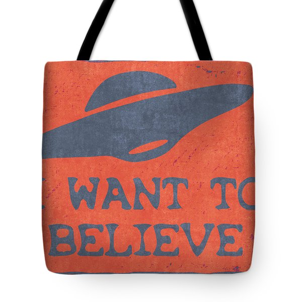 X Files I Want To Believe Tote Bag