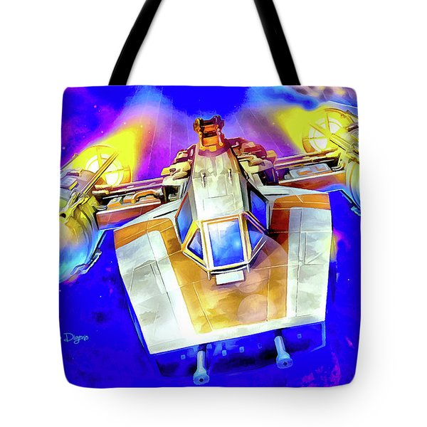 Y-wing Fighter - Watercolor Style Tote Bag