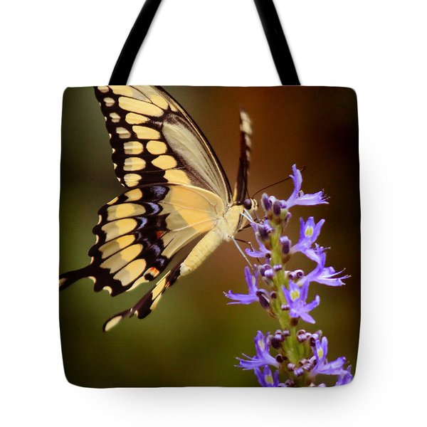 Tote Bag featuring the photograph Yellow Swallowtail by Joseph G Holland