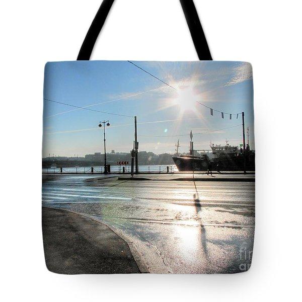 Tote Bag featuring the pyrography Yury Bashkin Peterburg Russia by Yury Bashkin
