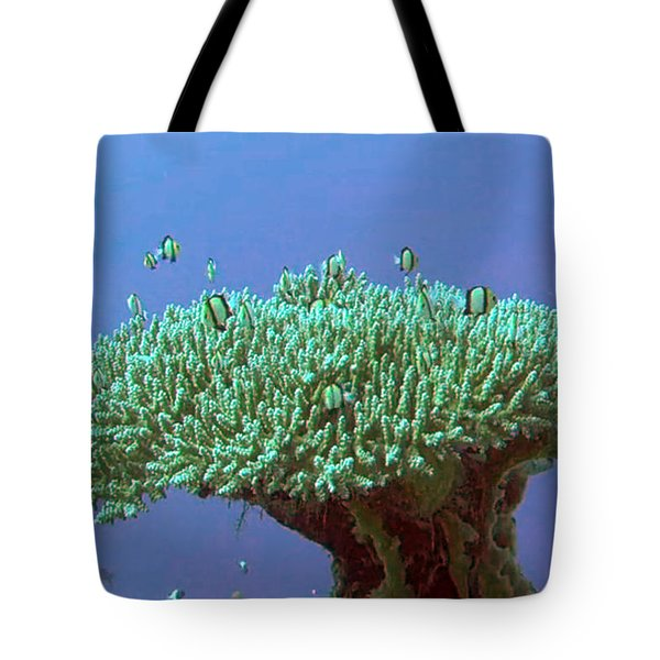 Zanzibar Island Sea  Coral Reef Vegitation Bio Diversity Of Exotic Fish Plants And  Organisims Zanzi Tote Bag