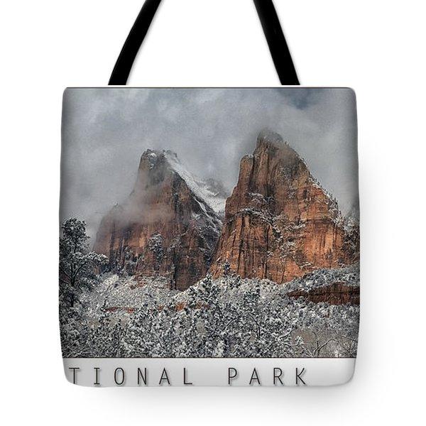 Zion Snow Tote Bag