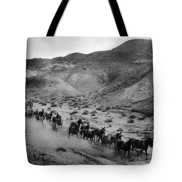 20 Mule Team Borax Hauling - Death Valley C. 1899 Tote Bag