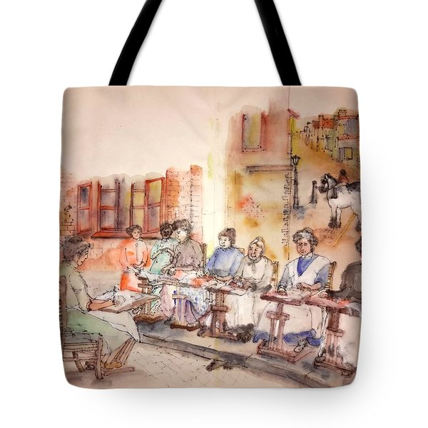 Tote Bag featuring the painting Of Clogs And Windmills Album by Debbi Saccomanno Chan