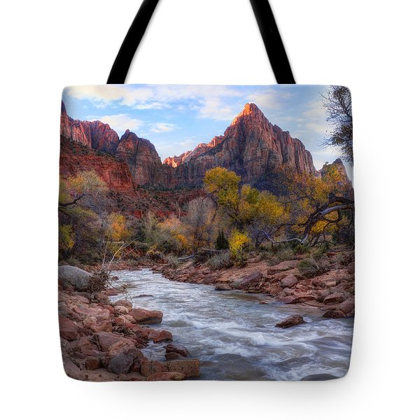 Zion National Park Tote Bag by Utah Images