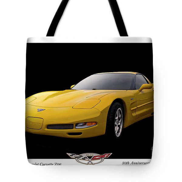 2003 Corvette Z06 50th Anniversary Model Tote Bag