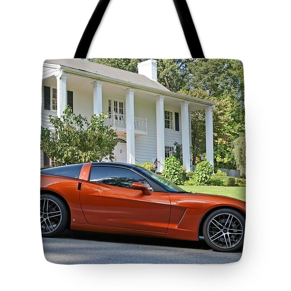 Tote Bag featuring the photograph 2005 Corvette C6 by John Black