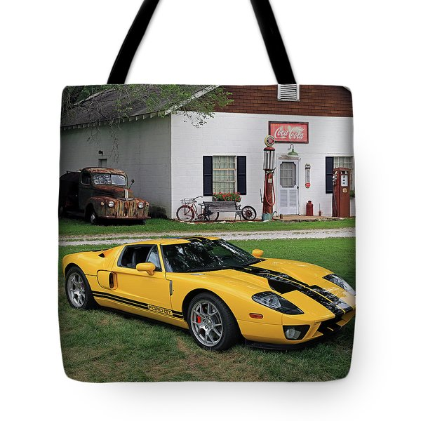 Tote Bag featuring the photograph 2005 Ford Gt by Christopher McKenzie