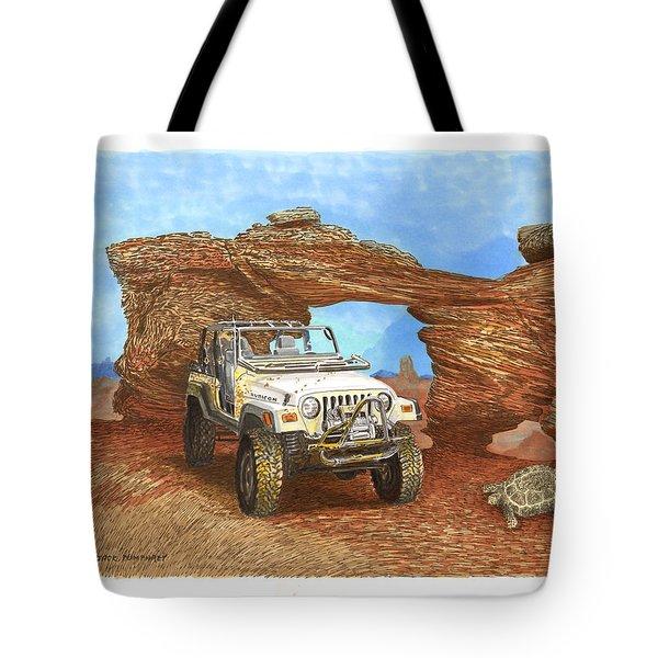 2005 Jeep Rubicon 4 Wheeler Tote Bag by Jack Pumphrey