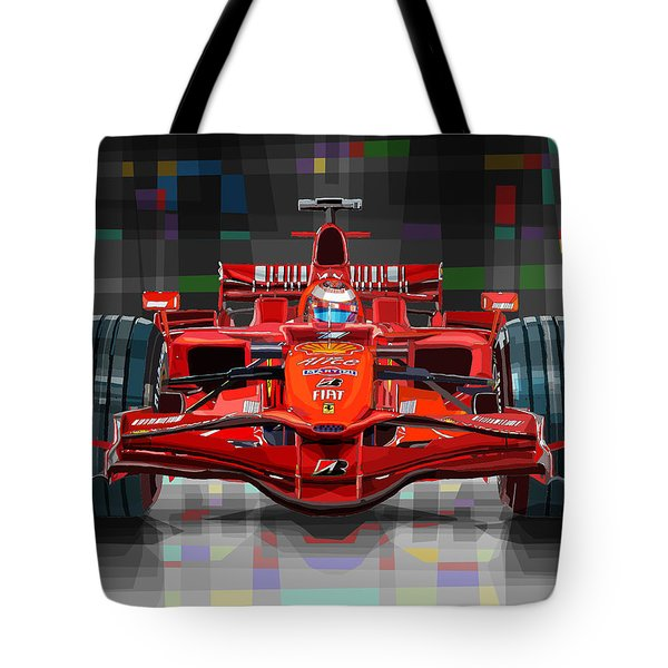 2008 Ferrari F1 Racing Car Kimi Raikkonen Tote Bag