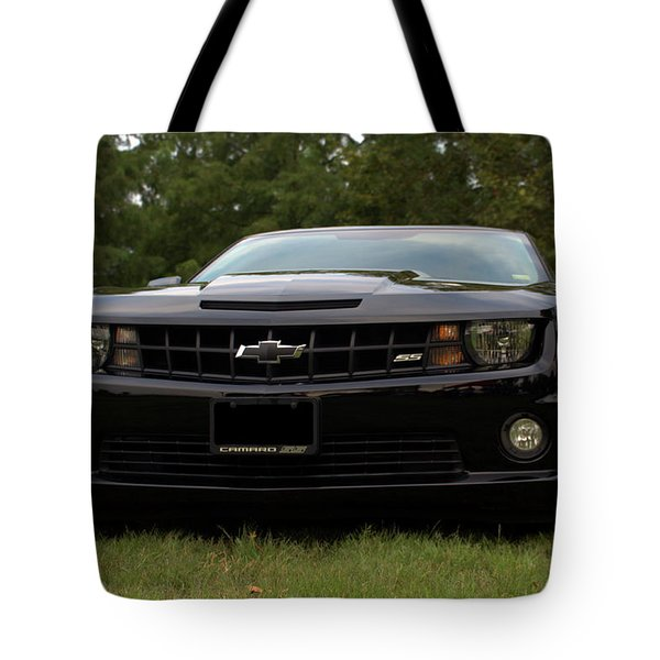 Tote Bag featuring the photograph 2010 Camaro Ss by Tim McCullough