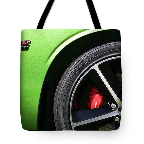 2011 Dodge Challenger Srt8 392 Hemi Green With Envy Tote Bag by Gordon Dean II