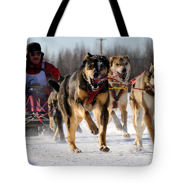 2011 Limited North American Sled Dog Race Tote Bag by Gary Whitton