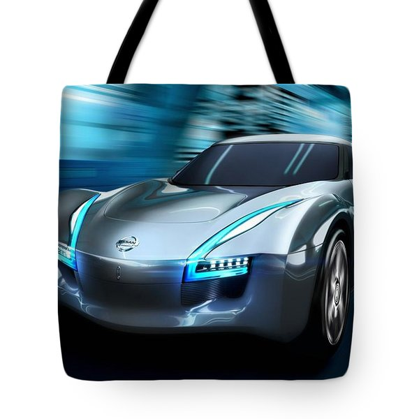 2011 Nissan Electric Sports Concept Car Tote Bag