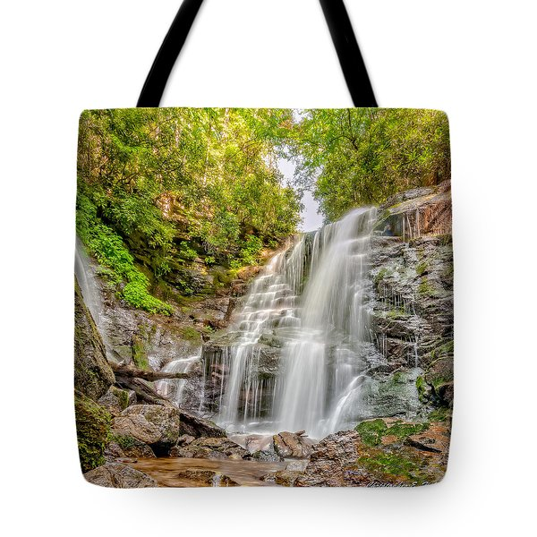 Tote Bag featuring the photograph Rocky Falls by Christopher Holmes