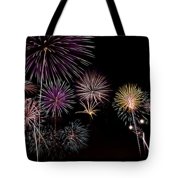 2013 Fireworks Over Alton Tote Bag by Andrea Silies