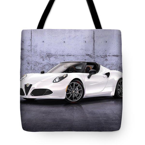 2014 Alfa Romeo 4c Spider Prototype 2 Tote Bag