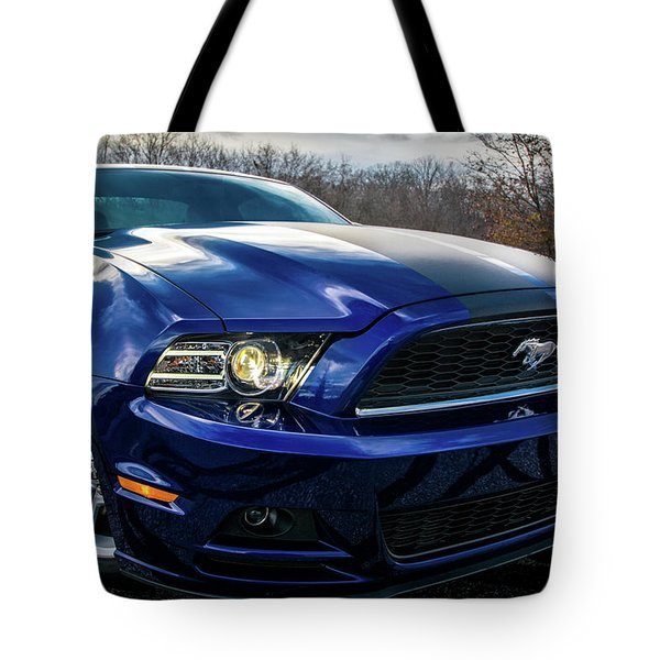Tote Bag featuring the photograph 2014 Ford Mustang by Randy Scherkenbach