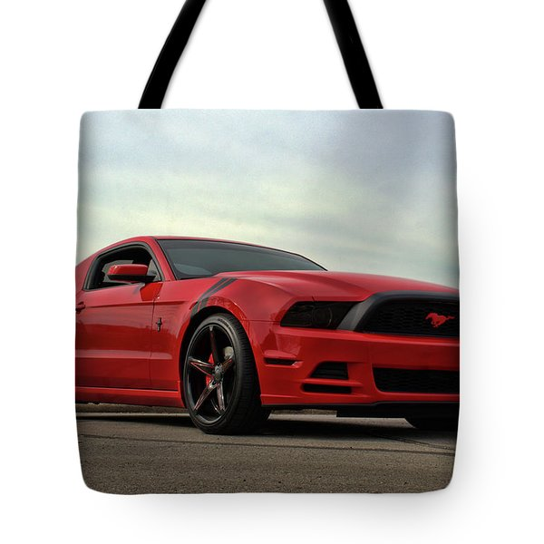 2014 Mustang Tote Bag by Tim McCullough
