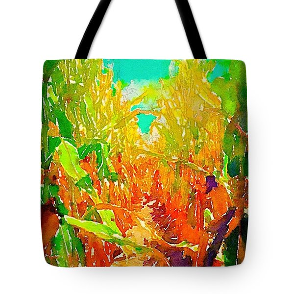 Up The Row Square Tote Bag