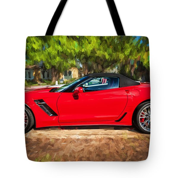 2015 Chevrolet Corvette Zo6 Painted  Tote Bag by Rich Franco