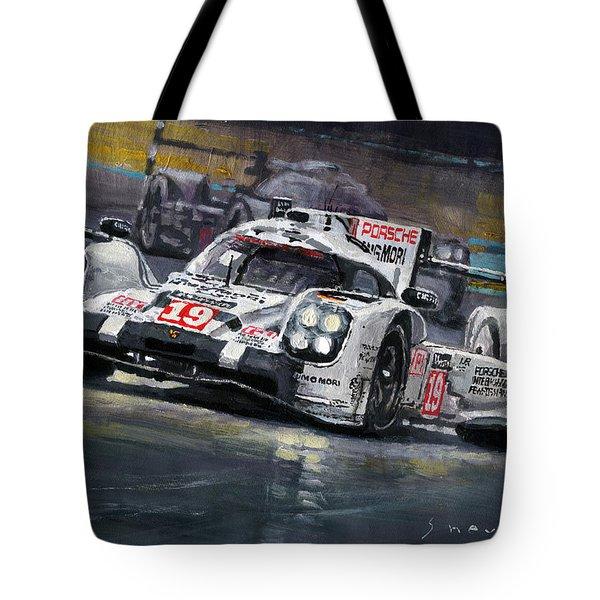 2015 Le Mans 24 Lmp1 Winner Porsche 919 Hybrid Bamber Tandy Hulkenberg Tote Bag