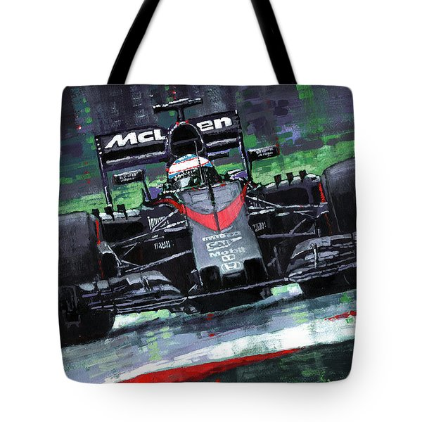 2015 Mclaren Honda F1 Austrian Gp Alonso  Tote Bag by Yuriy Shevchuk