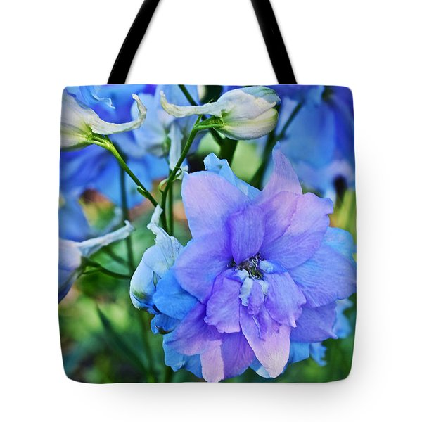 2015 Mid September At The Garden Larkspur 2 Tote Bag