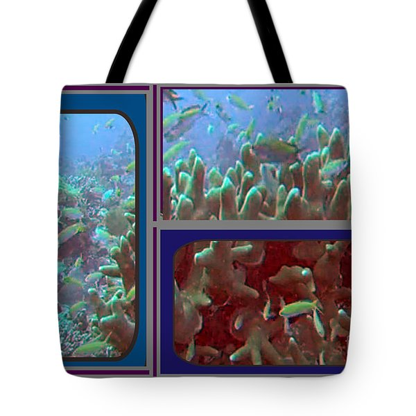 2015 Periscope Perspective Gallery Underwater Coral Reef Vegitation Photography In Landscape Format Tote Bag