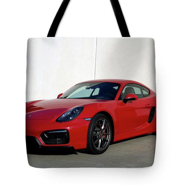 2015 Porsche Cayman Gts Tote Bag by Tim McCullough