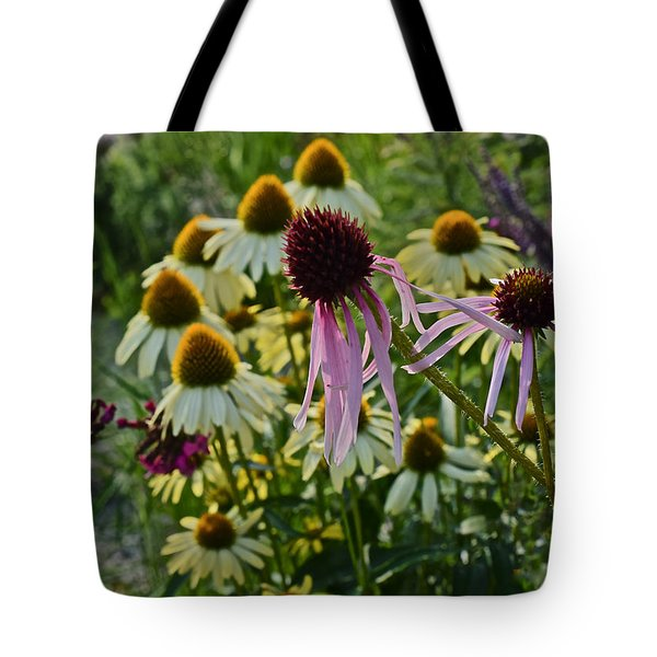 2015 Summer At The Garden Coneflowers Tote Bag
