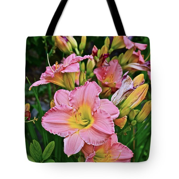 2015 Summer At The Garden Daylilies 1 Tote Bag