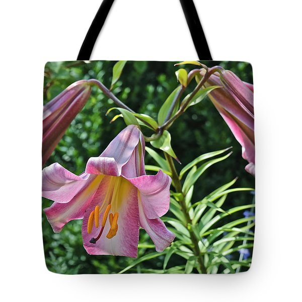 2015 Summer At The Garden Lilies In The Rose Garden 2 Tote Bag
