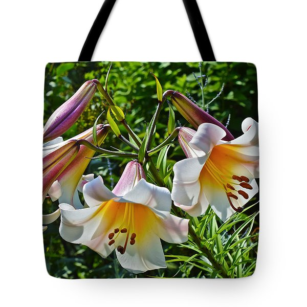 2015 Summer At The Garden Lilies In The Rose Garden 1 Tote Bag