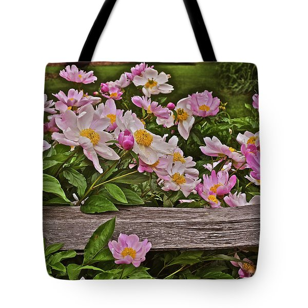 2015 Summer's Eve Front Yard Peonies 1 Tote Bag