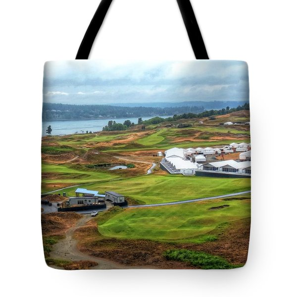 2015 Us Open Preparations  Tote Bag by Chris Anderson