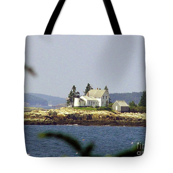 2015 Winter Harbor Light Tote Bag