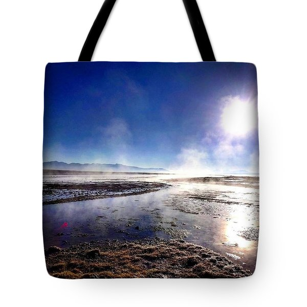 Thermal Spring At The Andes Mountains  Tote Bag