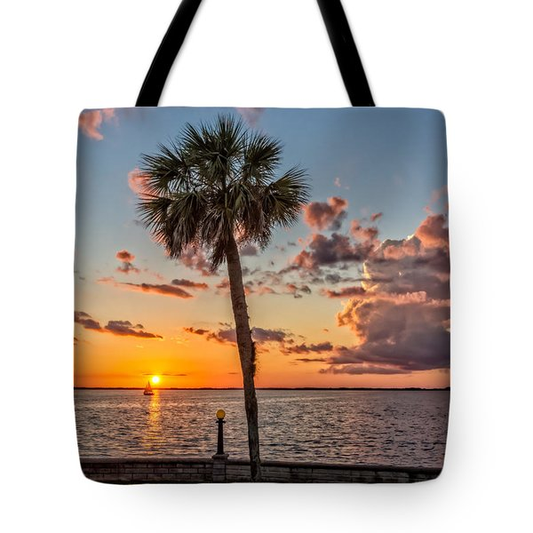 Tote Bag featuring the photograph Sunset Over Lake Eustis by Christopher Holmes