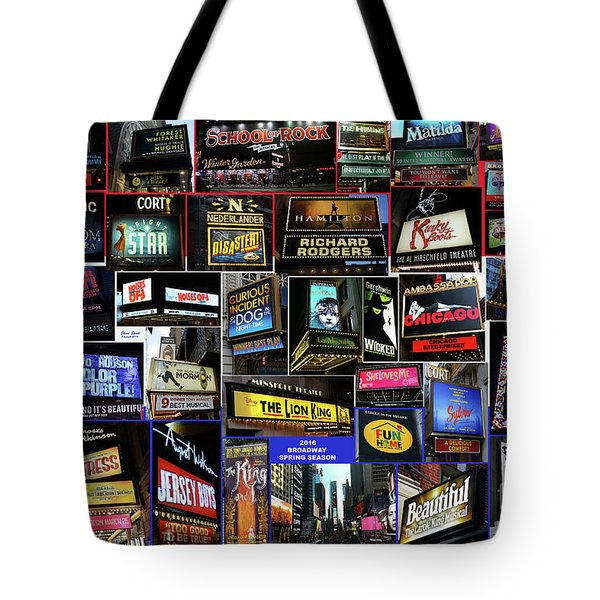 Tote Bag featuring the photograph 2016 Broadway Spring Collage by Steven Spak