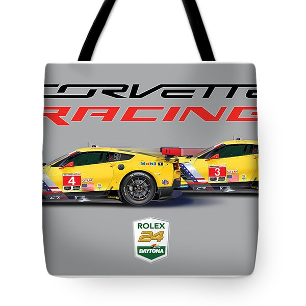 2016 Daytona 24 Hour Corvette Poster Tote Bag