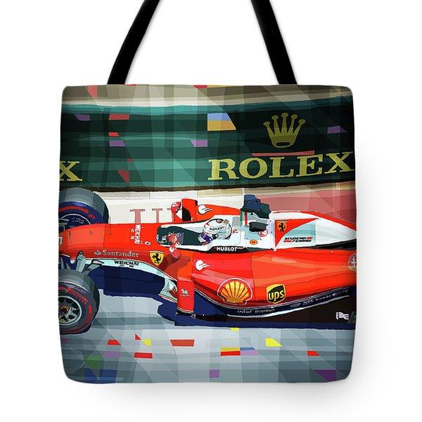 2016 Ferrari Sf16-h Vettel Monaco Gp  Tote Bag