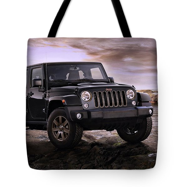 2016 Jeep Wrangler 75th Anniversary Model Tote Bag