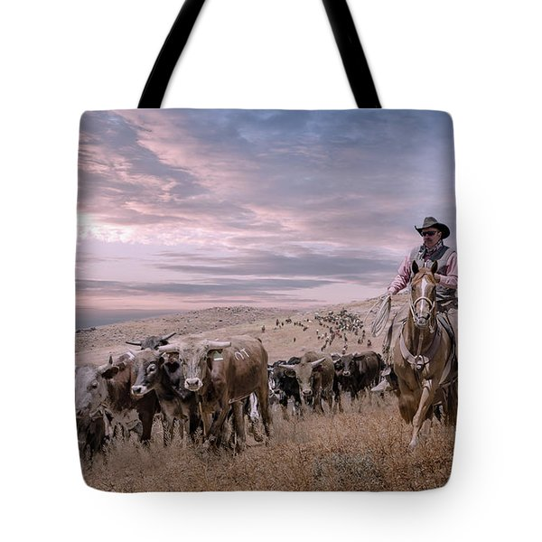 2016 Reno Cattle Drive Tote Bag by Rick Mosher