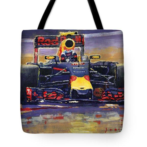 2016 Spain Gp Max Verstappen Red Bull-renault Winner Tote Bag